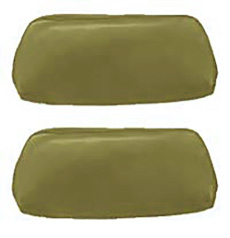 1968-69 HEADREST COVERS, BUCKET, LIGHT GREEN