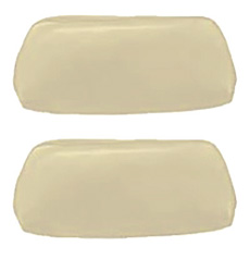 1968-69 HEADREST COVERS, BUCKET, PEARL