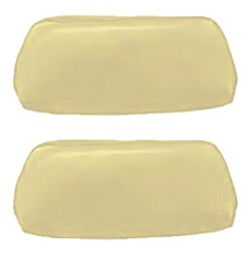 1968-69 HEADREST COVERS, BUCKET, PARCHMENT