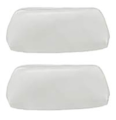 1968-70 HEAD REST COVER, BUCKET WHITE