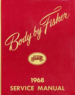 1968 FISHER BODY MANUAL (ea)