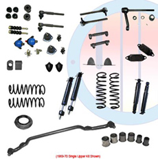 1969-70 COMPLETE SUSPENSION KIT, BIG BLOCK, SINGLE UPPER