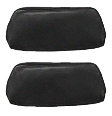 1969-70 HEADREST COVERS, BENCH BLACK (pr)