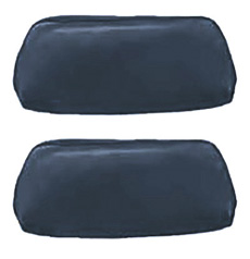1969-70 HEADREST COVERS, BENCH DARK BLUE (pr)