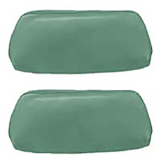 1969-70 HEADREST COVERS, BENCH LT. GREEN (pr)