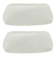 1969-70 HEADREST COVERS, BENCH PARCHMENT (pr)