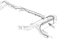 "1969 FUEL LINE, FRONT TO REAR, SMALL BLOCK, 5/16"" STAINLESS STEEL (ea)"