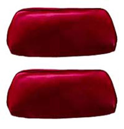 1969 HEADREST COVERS, BENCH RED (pr)