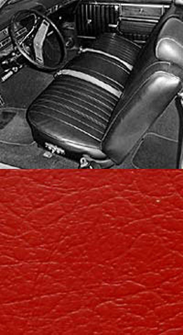 1969 SEAT COVER, FRONT, VINYL BUCKET, IMPALA, SS, RED (pr)