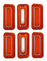 1969 TAILLIGHT KIT (lenses only) (set of 6)