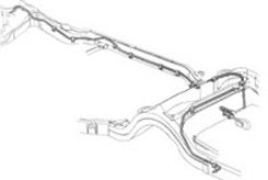1970 FUEL LINE, F TO R, 3/8 (ea)
