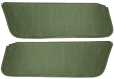 1971-72 SUNVISORS, HT, PERFORATED,  DK GREEN