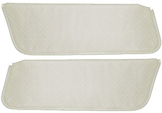 1971-72 SUNVISORS, HT, PERFORATED,  WHITE