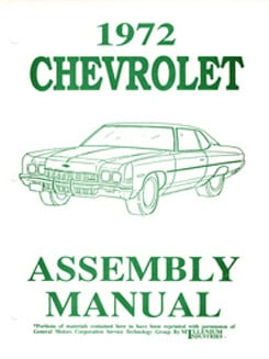 1972 ASSEMBLY MANUAL (ea)