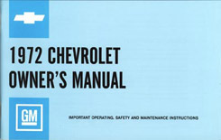 1972 OWNERS MANUAL (ea)