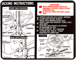 1972 JACKING INSTRUCTIONS, ALL