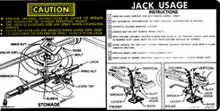 1974 JACKING INSTRUCTIONS, EXCEPT CONV.
