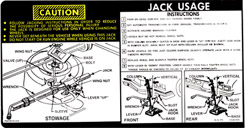 1975-76 JACKING INSTRUCTIONS, EXCEPT CONV.