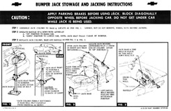 1959 JACKING INSTRUCTIONS, EXCEPT WAGON/DELIVERY