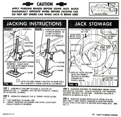1962 JACKING INSTRUCTIONS, HARDTOP