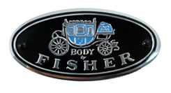 BODY BY FISHER DECAL