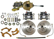 1959-1964 GM Full Size Power Disc Brake Conversion Kit w/ Drilled/ Slotted Rotors (Impala, Bel Air, Biscayne)