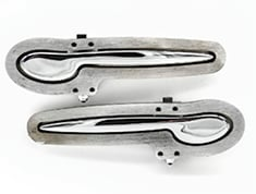 KINDIG IT CHROME SMOOTH DOOR HANDLES (pr)