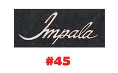 EXTRA IMPALA LOGO FOR FLOOR MATS