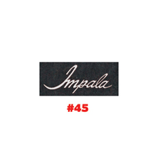 CARPET FLOOR MATS, W/IMPALA LOGO, AQUA (set)