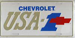 "LICENSE PLATE ""USA-1"""