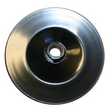 POWER STEERING PULLEY, STEEL,1 GROOVE,KEYED SHAFT