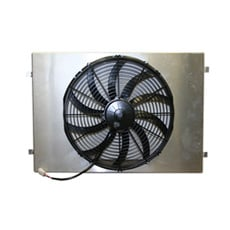 SINGLE 16' ELECTRIC FAN With SATIN FINISH SHROUD