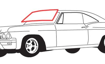 1961-1964 Oldsmobile Starfire Dynamic 88 convertible rear quarter window seals