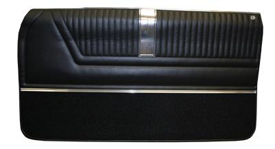1965 Door Panels Front Pre Assem 2 Dr Ht Conv Impala Ss Black Pr